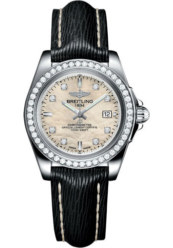 Breitling Watches - Galactic 32 Sleek Stainless Steel - Diamond Bezel - Sahara Strap - Tang - Style No: A7133053/A801/208X/A14BA.1