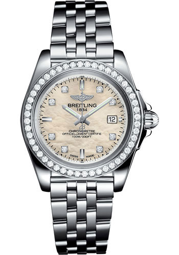 Breitling Watches - Galactic 32 Sleek Stainless Steel - Pilot Bracelet - Style No: A71330531A1A1