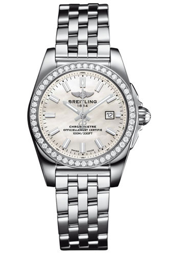 Breitling Watches - Galactic 29 SleekT Stainless Steel - Diamond Bezel - Pilot Bracelet - Style No: A7234853/A784/791A