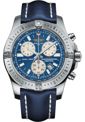 Breitling Watches - Colt Chronograph Leather Strap - Tang - Style No: A73388111C1X1