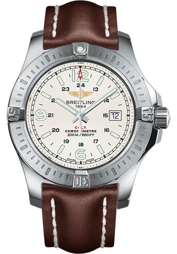 Breitling Watches - Colt Quartz Leather Strap - Tang - Style No: A7438811/G792/437X/A20BA.1
