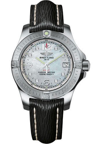 Breitling Watches - Colt Lady Sahara Leather Strap - Tang - Style No: A7738811/A769/208X/A14BA.1