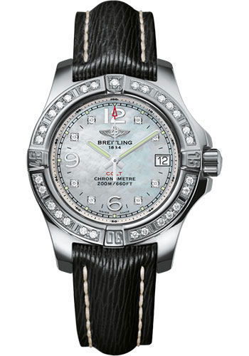 Breitling Watches - Colt Lady Sahara Leather Strap - Tang - Style No: A7738853/A769/208X/A14BA.1