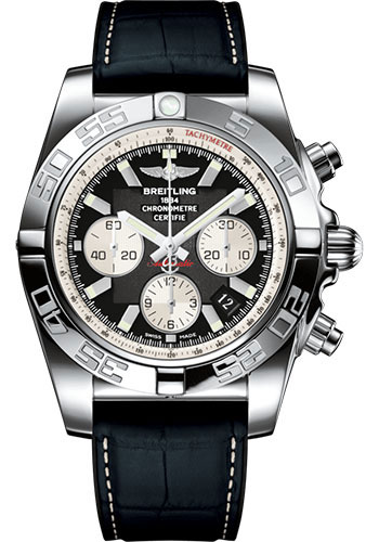 Breitling Watches - Chronomat 44 Steel Polished Bezel - Croco Strap - Deployant - Style No: AB011012/B967/296S/A20D.4