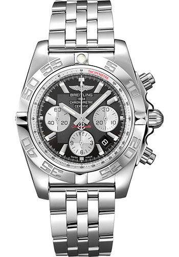 Breitling Watches - Chronomat 44 Steel Polished Bezel - Pilot Bracelet - Style No: AB0110121B1A1