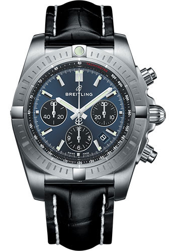Breitling Watches - Chronomat B01 Chronograph 44mm - Stainless Steel - Croco Strap - Tang - Style No: AB0115101C1P2