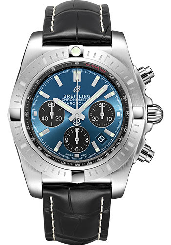 Breitling Watches - Chronomat B01 Chronograph 44mm - Stainless Steel - Croco Strap - Deployant - Style No: AB0115101C1P4