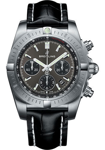 Breitling Watches - Chronomat B01 Chronograph 44mm - Stainless Steel - Croco Strap - Tang - Style No: AB0115101F1P1