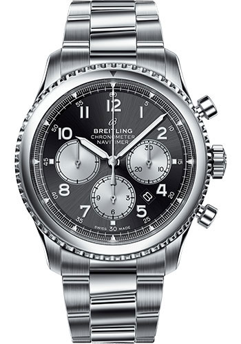 Breitling Watches - Navitimer 8 B01 Chronograph 43mm - Stainless Steel - Professional III Bracelet - Style No: AB0117131B1A1