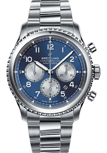 Breitling Watches - Aviator 8 B01 Chronograph 43 Stainless Steel - Metal Bracelet - Style No: AB0117131C1A1
