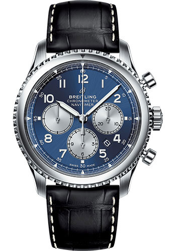 Breitling Watches - Navitimer 8 B01 Chronograph 43mm - Stainless Steel - Croco Strap - Style No: AB0117131C1P1