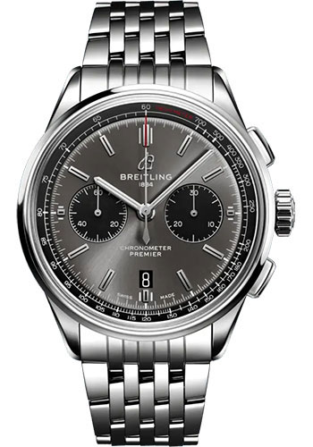 Breitling Watches - Premier B01 Chronograph 42 Stainless Steel - Metal Bracelet - Style No: AB0118221B1A1