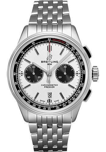 Breitling Watches - Premier B01 Chronograph 42 Navitimer Bracelet - Style No: AB0118221G1A1