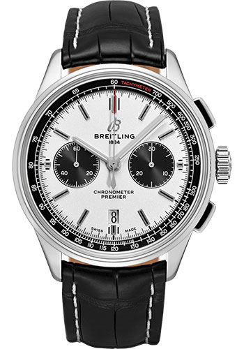 Breitling Watches - Premier B01 Chronograph 42mm - Croco Strap - Deployant - Style No: AB0118221G1P1