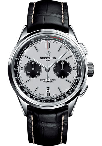 Breitling Watches - Premier B01 Chronograph 42mm - Croco Strap - Tang - Style No: AB0118221G1P2