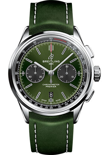 Breitling Watches - Premier B01 Chronograph 42mm - Leather Strap - Deployant - Style No: AB0118A11L1X1