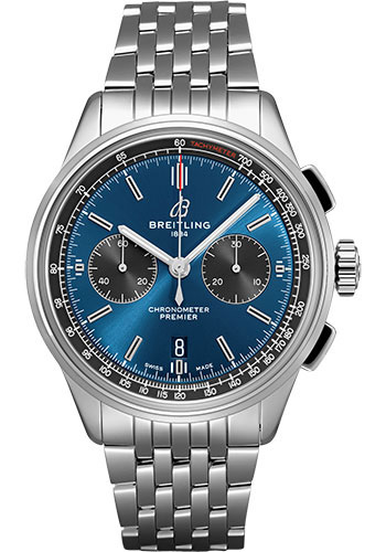 Breitling Watches - Premier B01 Chronograph 42 Navitimer Bracelet - Style No: AB0118A61C1A1