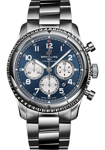 Breitling Watches - Aviator 8 B01 Chronograph 43 Stainless Steel - Metal Bracelet - Style No: AB0119131C1A1