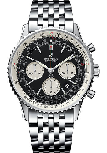 Breitling Watches - Navitimer B01 Chronograph 43mm - Stainless Steel - Pilot Bracelet - Style No: AB0121211B1A1