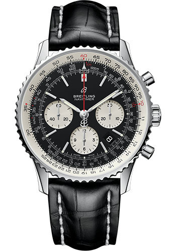 Breitling Watches - Navitimer B01 Chronograph 43mm - Stainless Steel - Croco Strap - Style No: AB0121211B1P1