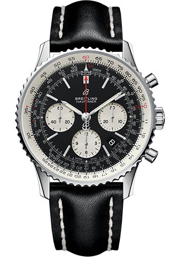 Breitling Watches - Navitimer 1 B01 Chronograph 43mm - Stainless Steel - Leather Strap - Style No: AB0121211B1X1