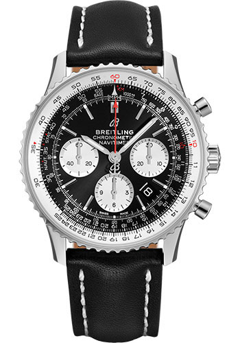 Breitling Watches - Navitimer B01 Chronograph 43mm - Stainless Steel - Leather Strap - Style No: AB0121211B1X2