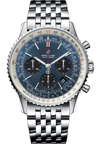 Breitling Watches - Navitimer B01 Chronograph 43mm - Stainless Steel - Pilot Bracelet - Style No: AB0121211C1A1