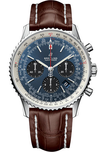 Breitling Watches - Navitimer 1 B01 Chronograph 43mm - Stainless Steel - Croco Strap - Style No: AB0121211C1P2