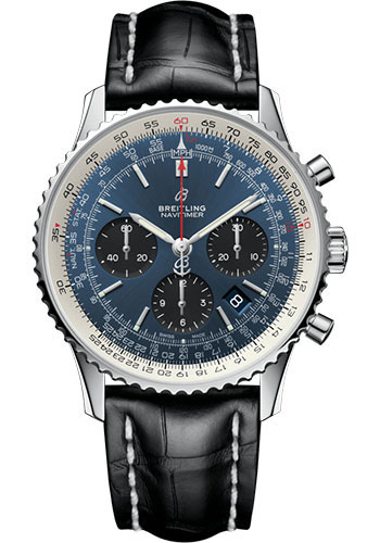 Breitling Watches - Navitimer B01 Chronograph 43mm - Stainless Steel - Croco Strap - Style No: AB0121211C1P3