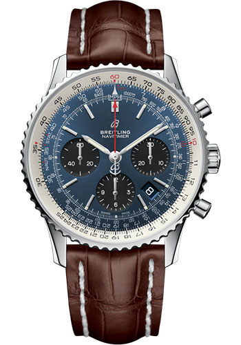 Breitling Watches - Navitimer B01 Chronograph 43mm - Stainless Steel - Croco Strap - Style No: AB0121211C1P4