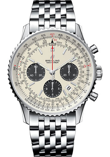 Breitling Watches - Navitimer B01 Chronograph 43mm - Stainless Steel - Pilot Bracelet - Style No: AB0121211G1A1