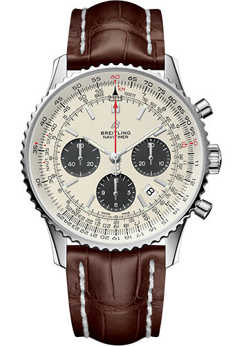 Breitling Watches - Navitimer B01 Chronograph 43mm - Stainless Steel - Croco Strap - Style No: AB0121211G1P1