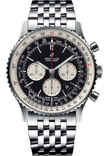 Breitling Watches - Navitimer B01 Chronograph 46mm - Stainless Steel - Navitimer Bracelet - Style No: AB0127211B1A1