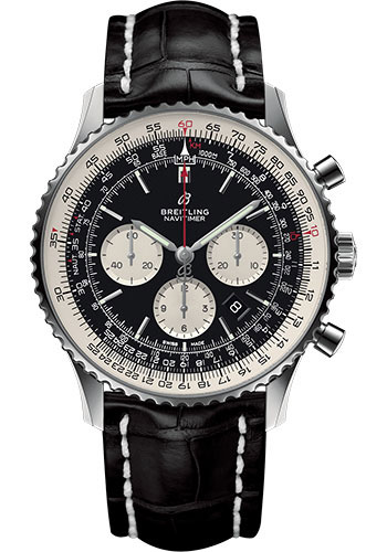 Breitling Watches - Navitimer B01 Chronograph 46mm - Stainless Steel - Croco Strap - Style No: AB0127211B1P1