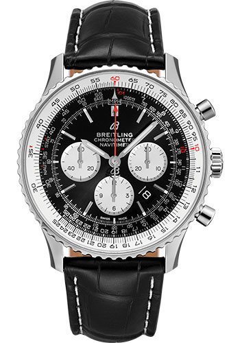 Breitling Watches - Navitimer B01 Chronograph 46mm - Stainless Steel - Croco Strap - Style No: AB0127211B1P2