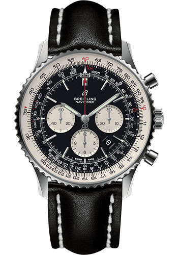 Breitling Watches - Navitimer B01 Chronograph 46mm - Stainless Steel - Leather Strap - Style No: AB0127211B1X2