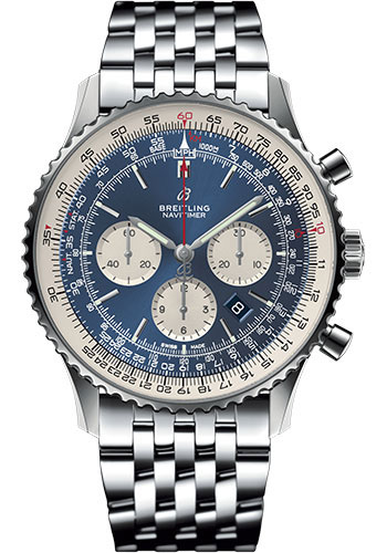 Breitling Watches - Navitimer B01 Chronograph 46mm - Stainless Steel - Navitimer Bracelet - Style No: AB0127211C1A1