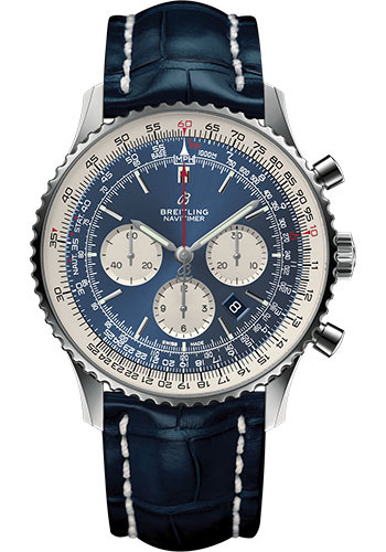 Breitling Watches - Navitimer 1 B01 Chronograph 46mm - Stainless Steel - Croco Strap - Style No: AB0127211C1P1