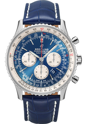 Breitling Watches - Navitimer B01 Chronograph 46mm - Stainless Steel - Croco Strap - Style No: AB0127211C1P2