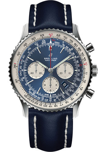 Breitling Watches - Navitimer 1 B01 Chronograph 46mm - Stainless Steel - Leather Strap - Style No: AB0127211C1X1