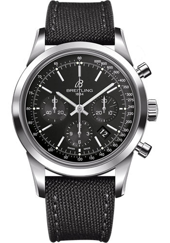 Breitling Watches - Transocean Chronograph Stainless Steel - Military Strap - Tang - Style No: AB015212/BA99/109W/A20BA.1