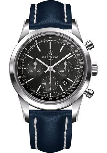 Breitling Watches - Transocean Chronograph Stainless Steel - Leather Strap - Deployant - Style No: AB015212/BA99/112X/A20D.1
