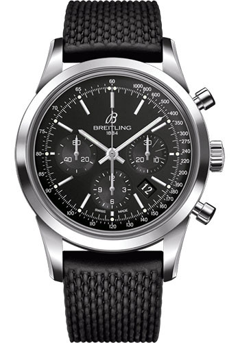 Breitling Watches - Transocean Chronograph Stainless Steel - Aero Classic Strap - Tang - Style No: AB015212/BA99/278S/A20S.1