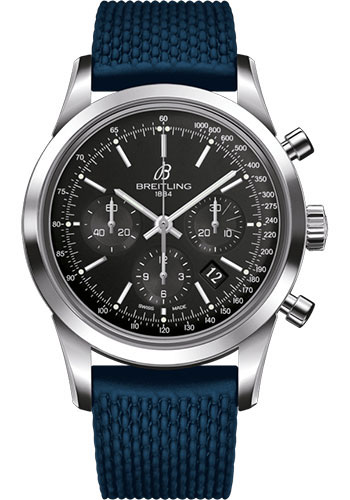 Breitling Watches - Transocean Chronograph Stainless Steel - Aero Classic Strap - Deployant - Style No: AB015212/BA99/281S/A20D.2