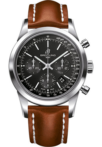 Breitling Watches - Transocean Chronograph Stainless Steel - Leather Strap - Deployant - Style No: AB015212/BA99/434X/A20D.1