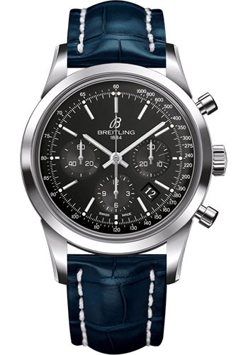 Breitling Watches - Transocean Chronograph Stainless Steel - Croco Strap - Deployant - Style No: AB015212/BA99/732P/A20D.1