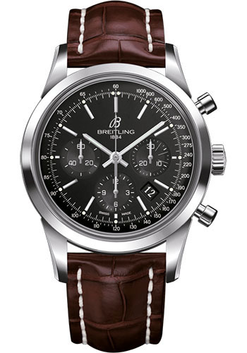Breitling Watches - Transocean Chronograph Stainless Steel - Croco Strap - Deployant - Style No: AB015212/BA99/740P/A20D.1