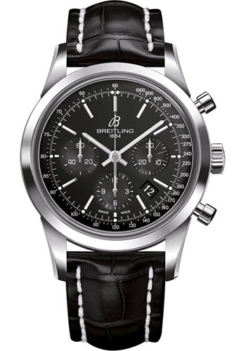 Breitling Watches - Transocean Chronograph Stainless Steel - Croco Strap - Deployant - Style No: AB015212/BA99/744P/A20D.1