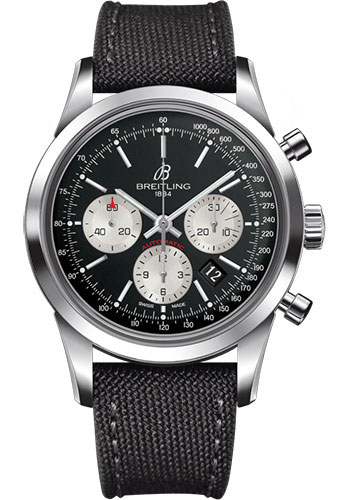 Breitling Watches - Transocean Chronograph Stainless Steel - Military Strap - Tang - Style No: AB015212/BF26/109W/A20BA.1