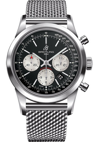 Breitling Watches - Transocean Chronograph Stainless Steel - Bracelet - Style No: AB015212/BF26/154A